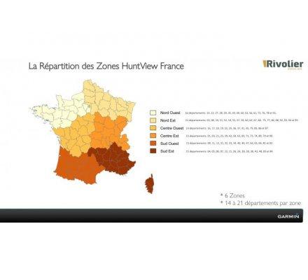 Carte Garmin Huntview France