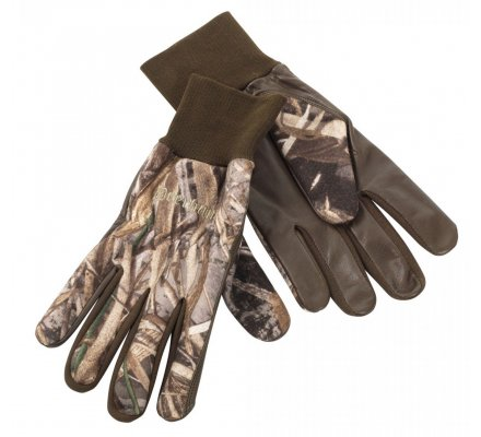 Gants chasse polaire et cuir camouflage Deerhunter