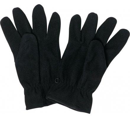 Gants polaires unis noir ou kaki