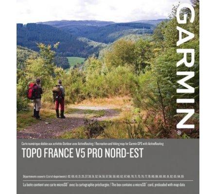 Carte Garmin TOPO FRANCE V5 PRO - NORD-EST