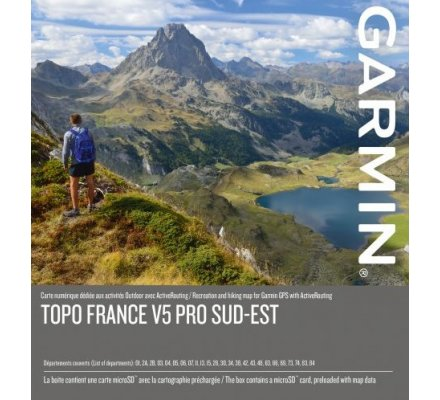 Carte Garmin TOPO FRANCE V5 PRO- SUD-EST
