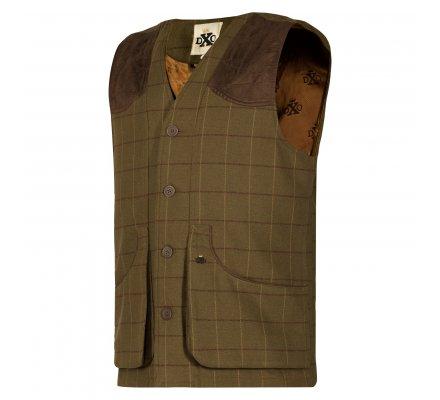 Gilet de chasse sans manches en tweed Woodland DEERHUNTER