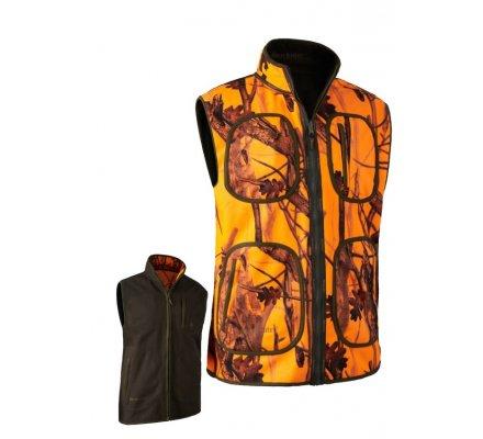 Gilet de chasse sans manches polaire réversible camouflage Blaze Gamekeeper Deerhunter