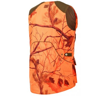 Gilet de chasse femme camo orange Milano Stagunt