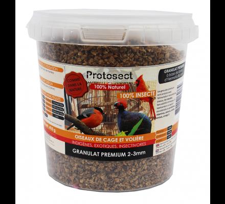 Granulat Premium 100% insectes 2-3 mm (sarcelles, faisans, perdrix) Protosect
