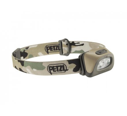 Lampe Frontale Tactikka + RGB camouflage PETZL