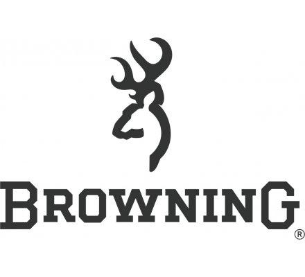 Autocollant Logo Browning Argent petit modèle