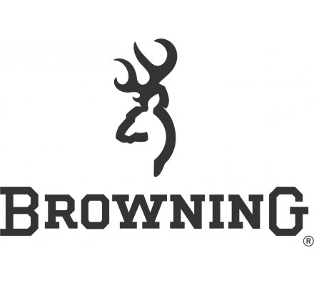 Autocollant Logo Browning 3D Argent grand modèle