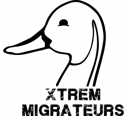 Sweat capuche Xtrem Migrateurs bicolore marron blanc