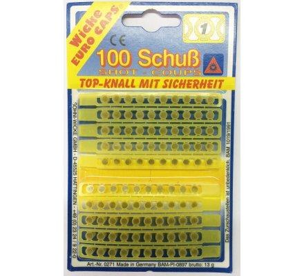 Lot 100 amorces et 6 cartouches pour fusil de chasse Hunter pour enfant