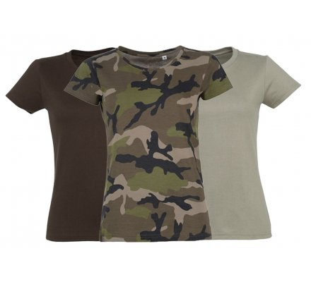 Lot 3 tee-shirts chasse femme