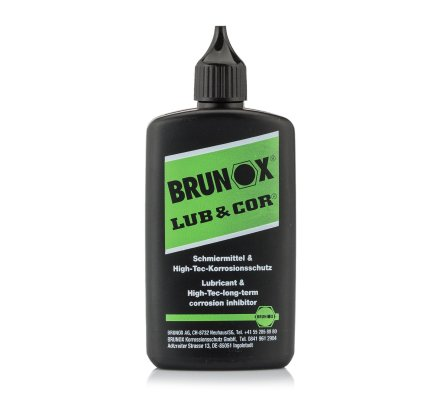 Lubrifiant Lub & Cor en bouteille avec orifice goutte à goutte Brunox 100 ml