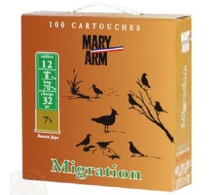 Pack 100 cartouches Mary Arm Migration 32 cal 12