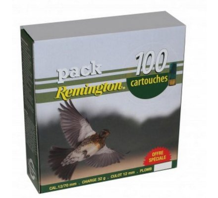 Pack 100 cartouches Remington grive 32 BJ cal 12