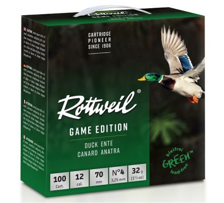Pack 100 Cartouches Rottweil Game edition canard 32