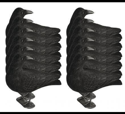Pack 12 appelants corbeaux guetteurs floqués avec pattes
