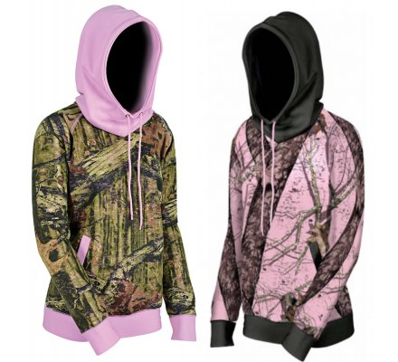 Pack 2 sweats femme bicolore MOSSY OAK BREAK UP INFINITY Vert et Rose