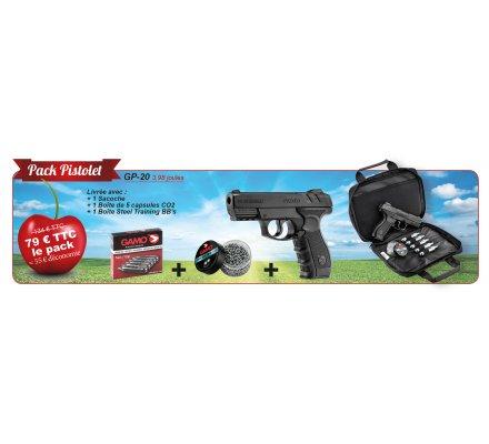 Pack Pistolet à air comprimé GP-20 avec accessoires GAMO