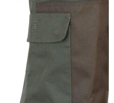 Pantalon de chasse bicolore kaki/marron Macreuse