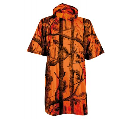 Poncho camouflage orange fluo Ghostcamo