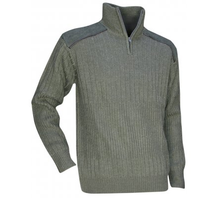 Pull chasse col montant zippé