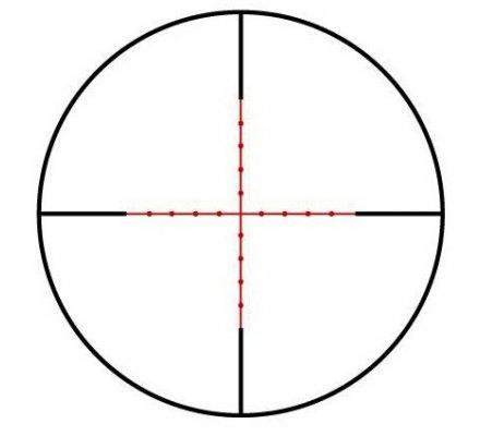 Lunette de tir Tasco Target 2,5-10X42 - Réticule Mil Dot Lumineux