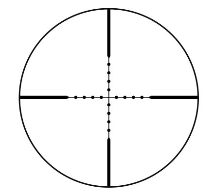 Lunette de tir Tasco Varmint 2,5-10X42 - Réticule Mil Dot