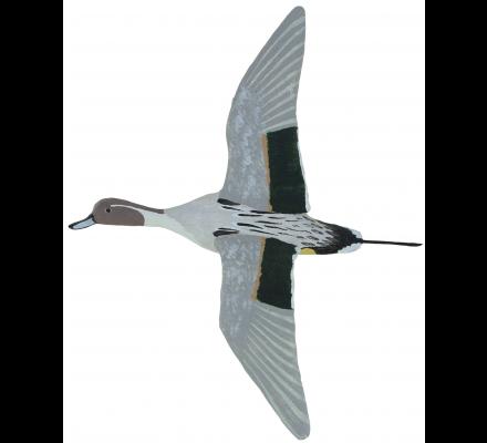 Sculpture canard pilet mâle en vol