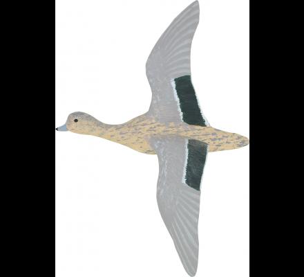 Sculpture canard siffleur femelle en vol