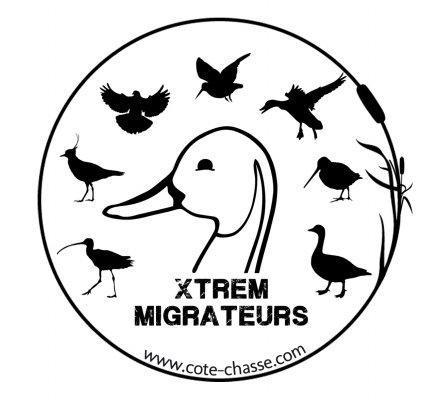 Autocollant espèces gibiers Xtrem Migrateurs