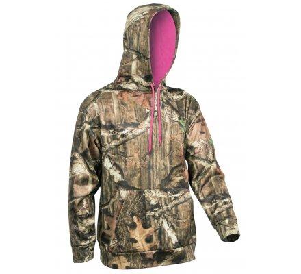 Pack 2 sweats femme MOSSY OAK  Rose et camouflage