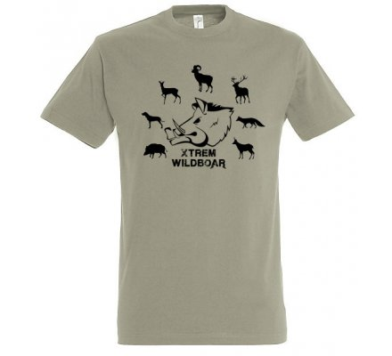 Tee-shirt kaki espèces gibiers XTREM WILDBOAR