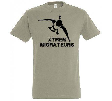 Tee-shirt vert gris colvert XTREM MIGRATEURS