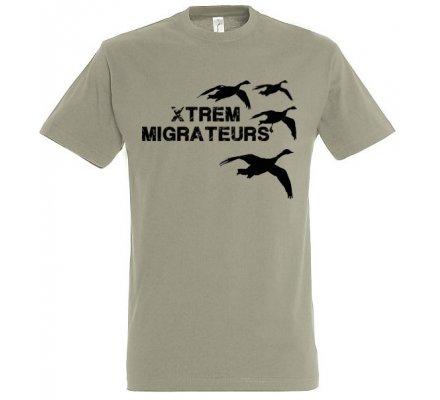 Tee-shirt vert gris oies XTREM MIGRATEURS