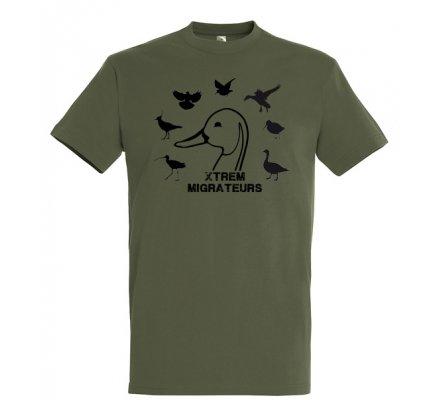 Tee-shirt kaki espèces gibiers XTREM MIGRATEURS