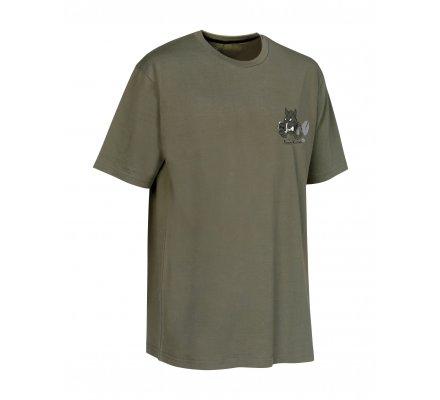 Tee-shirt à manches courtes Sanglier Kaki Verney Carron