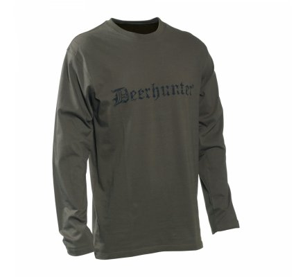Tee-shirt à manches longues Kaki Deerhunter