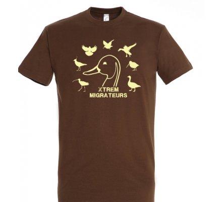 Tee-shirt marron espèces gibiers XTREM MIGRATEURS