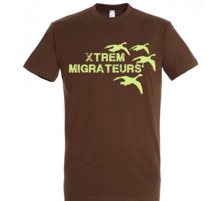 Tee-shirt marron oies XTREM MIGRATEURS