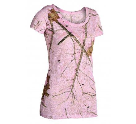 Tee-shirt femme Mossy Oak Pink