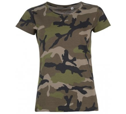 Tee-shirt chasse femme camouflage