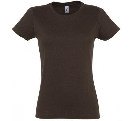 Tee-shirt chasse femme marron