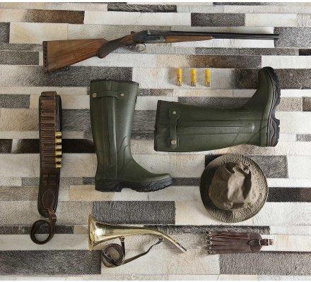 Bottes de chasse Veneur zippée Kaki Rouchette