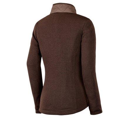 Veste polaire tricotée femme café Cuiros STAGUNT