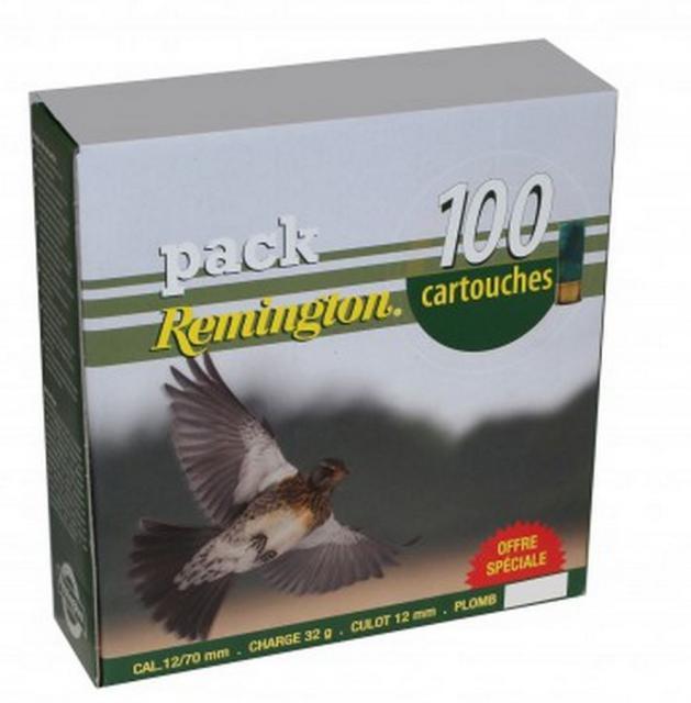 achat vente pack 100 cartouches remington grive 32 bj cal 12 pas cher 5181. Black Bedroom Furniture Sets. Home Design Ideas