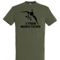Tee-shirt kaki colvert XTREM MIGRATEURS