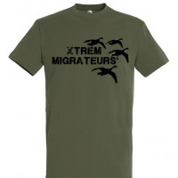 Tee-shirt kaki oies XTREM MIGRATEURS