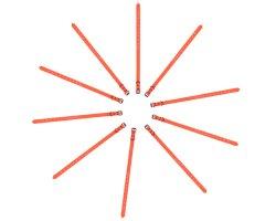 Pack éco 10 colliers PVC souple orange