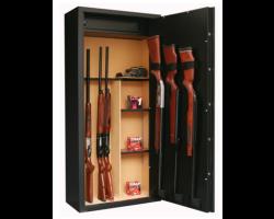 Armoire 11 armes avec lunette + 3 dans la porte et coffre intérieur avec étagères amovibles INFAC SAFE