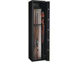 Armoire Sentinel 6 armes avec lunette + 1 dans la porte et coffre intérieur INFAC SAFE